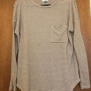 Burnt Yellow Striped Old Navy Long-Sleeve, Size S